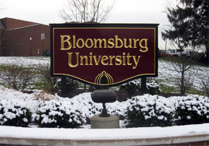 Bloomsburg University Sign