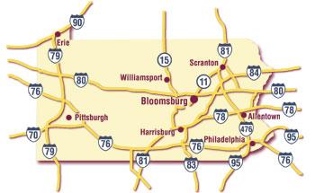 Bloomsburg University Campus Map 98563 Timehd